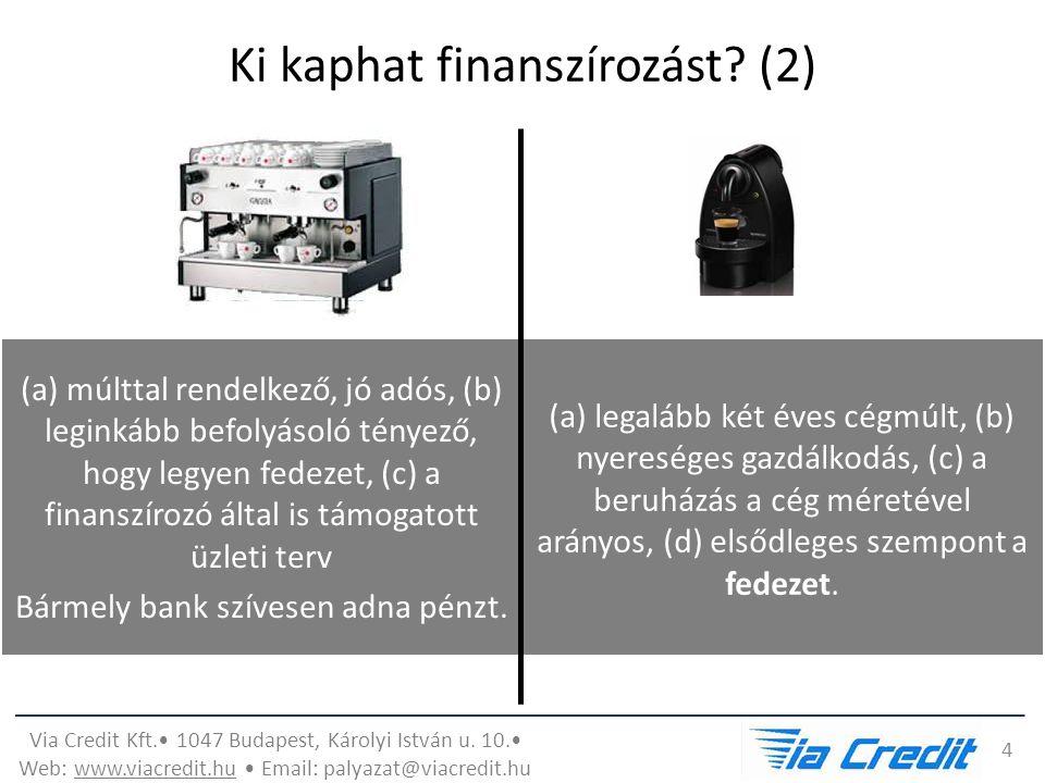 Via Credit Kft. 1047 Budapest, Károlyi István u. 10.