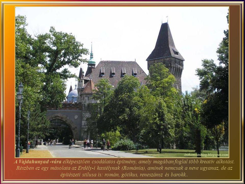 A Vajdahunyad-vára a Városligetben található a magyar főváros egyik leghíresebb látnivalója.