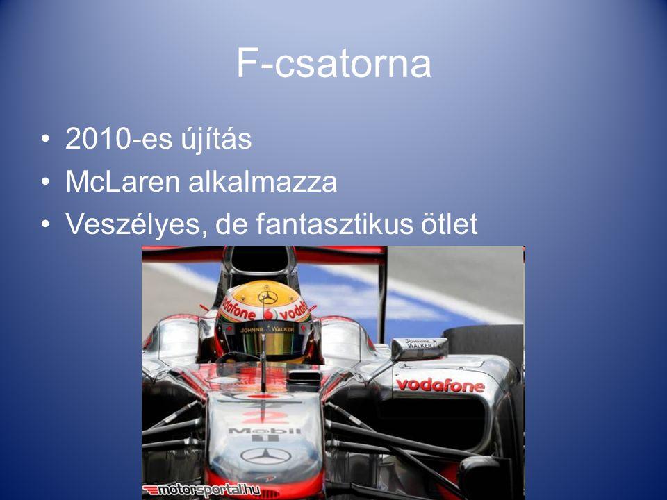 F-csatorna 2010-es újítás McLaren alkalmazza Veszélyes, de fantasztikus ötlet