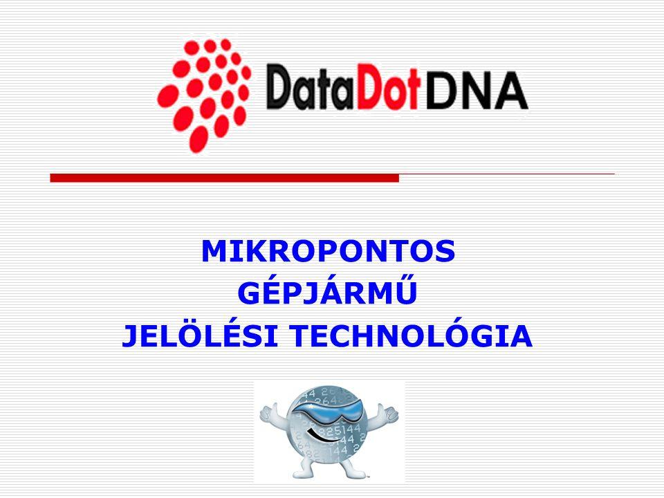 MIKROPONTOS GÉPJÁRMŰ JELÖLÉSI TECHNOLÓGIA