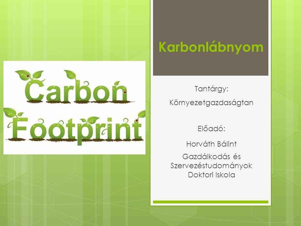 A kenyér karbonlábnyoma Forrás: fibl.org
