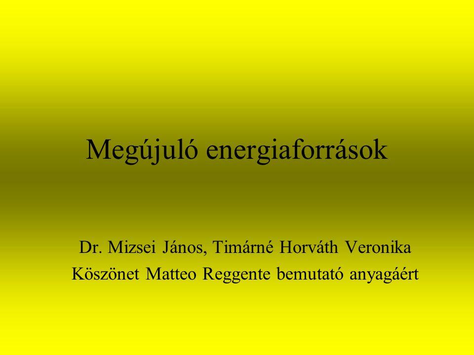 Megújuló energiaforrások Dr.