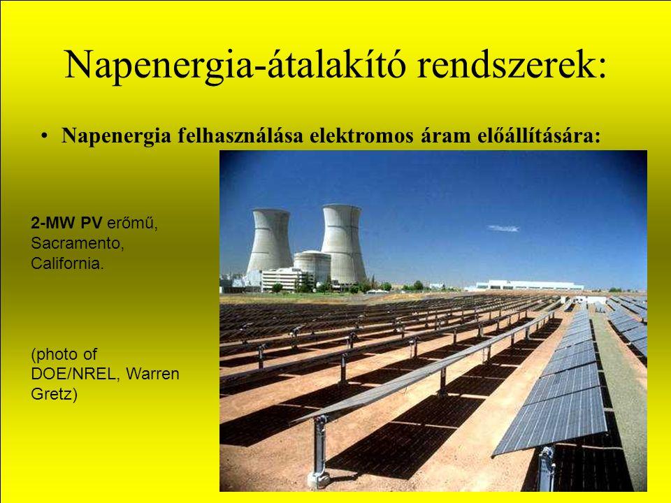 Napenergia-átalakító rendszerek: Napenergia felhasználása elektromos áram előállítására: 2-MW PV erőmű, Sacramento, California.