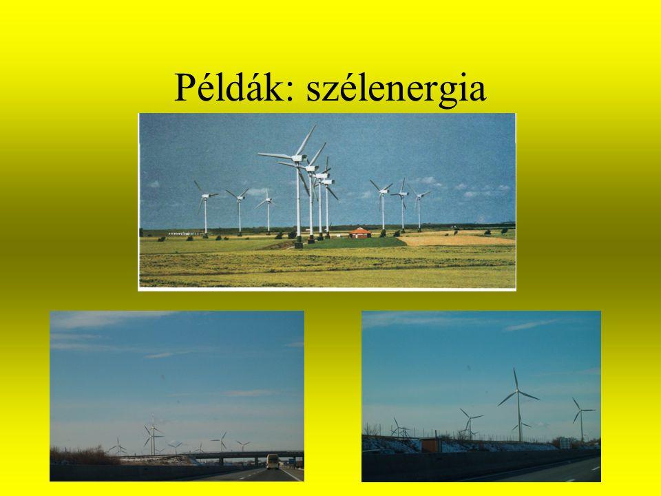 Példák: vízenergia