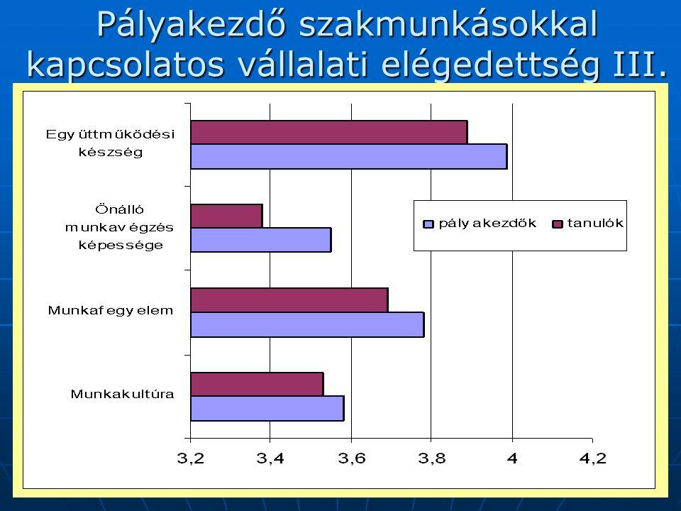 2007. augusztus 30-31.17 Pályakezdő szakmunkásokkal kapcsolatos vállalati elégedettség III.