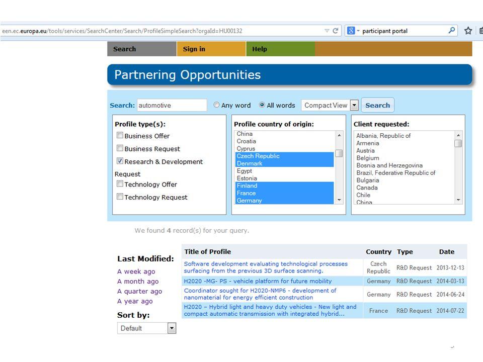Enterprise Europe Network - rendezvények üzletember találkozók, céges látogatások, vásárokon történő részvétel