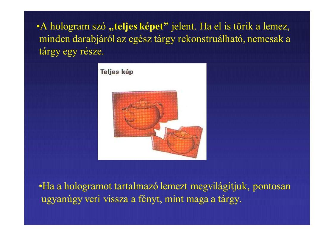 """A hologram szó """"teljes képet jelent."""