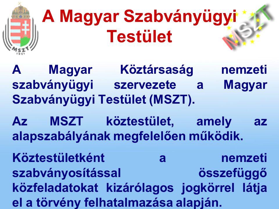 A Magyar Köztársaság nemzeti szabványügyi szervezete a Magyar Szabványügyi Testület (MSZT).