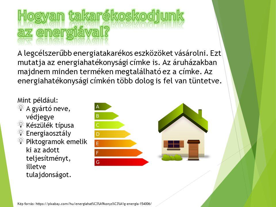 A legcélszerűbb energiatakarékos eszközöket vásárolni.