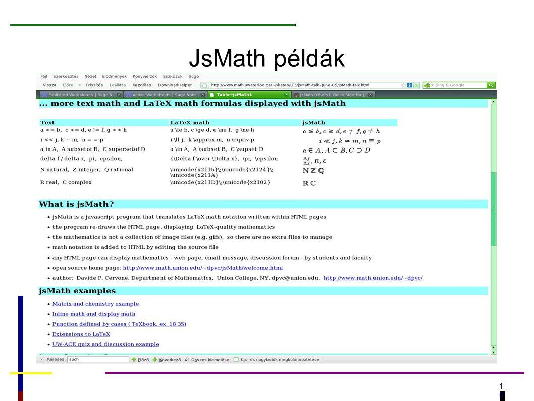 1010 JsMath példák