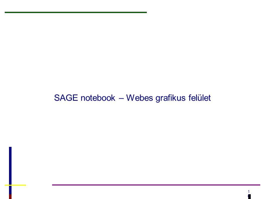 1616 SAGE notebook – Webes grafikus felület