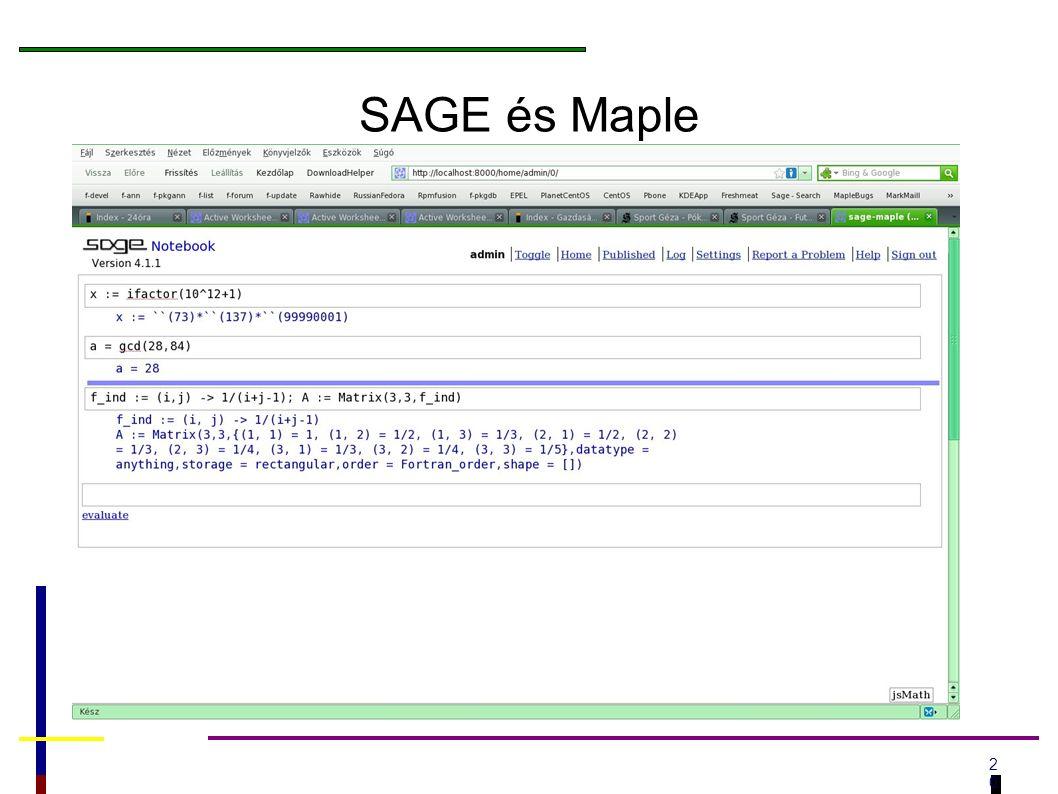 2020 SAGE és Maple