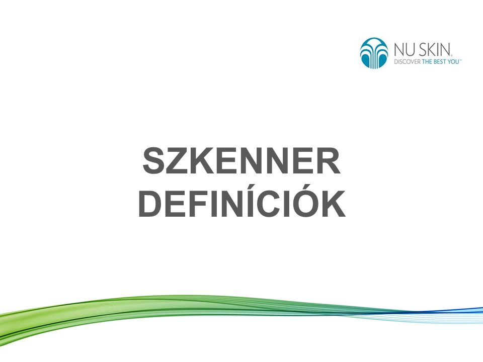 SZKENNER DEFINÍCIÓK
