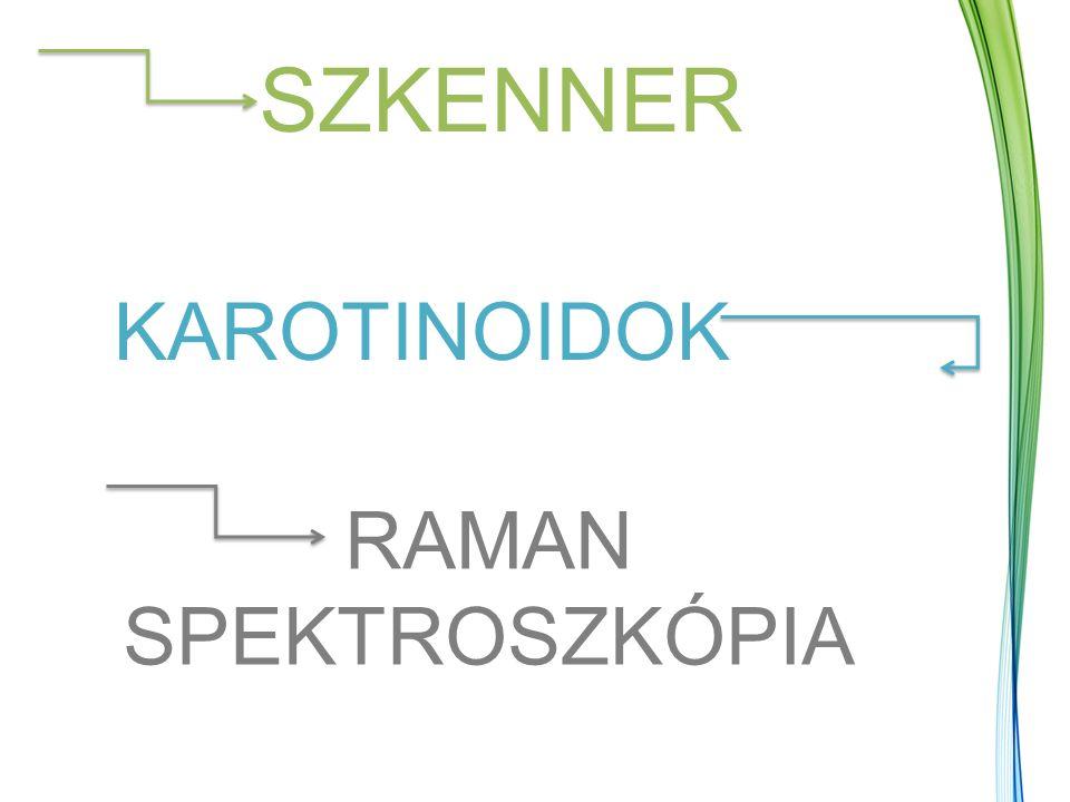 SZKENNER KAROTINOIDOK RAMAN SPEKTROSZKÓPIA