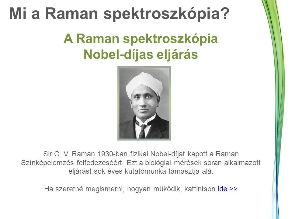 Mi a Raman spektroszkópia. A Raman spektroszkópia Nobel-díjas eljárás Sir C.