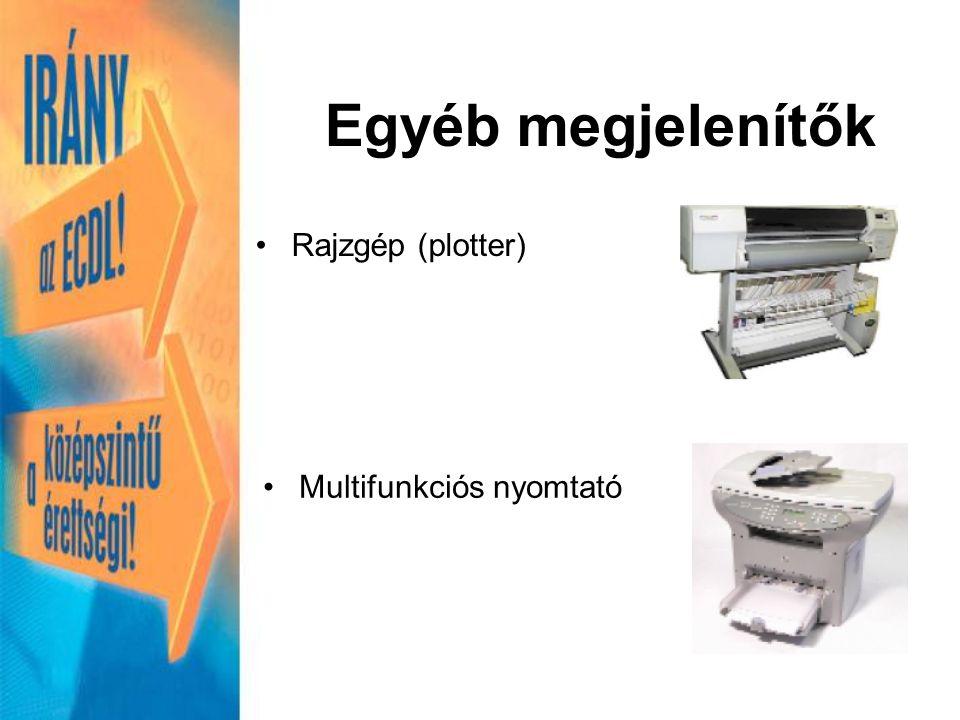 Rajzgép (plotter) Multifunkciós nyomtató Egyéb megjelenítők