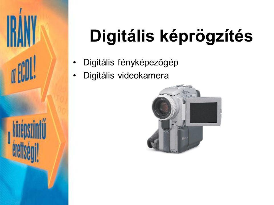 Digitális fényképezőgép Digitális videokamera Digitális képrögzítés