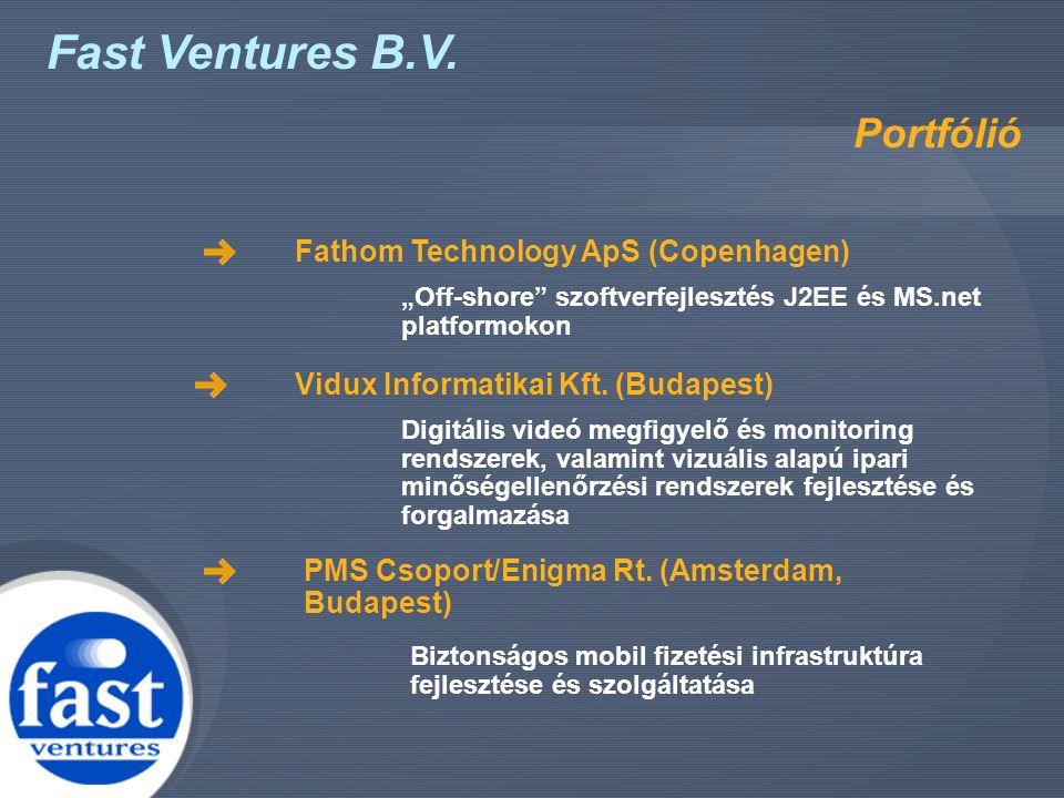 """Fast Ventures B.V. Portfólió Fathom Technology ApS (Copenhagen) """"Off-shore"""" szoftverfejlesztés J2EE és MS.net platformokon Vidux Informatikai Kft. (Bu"""