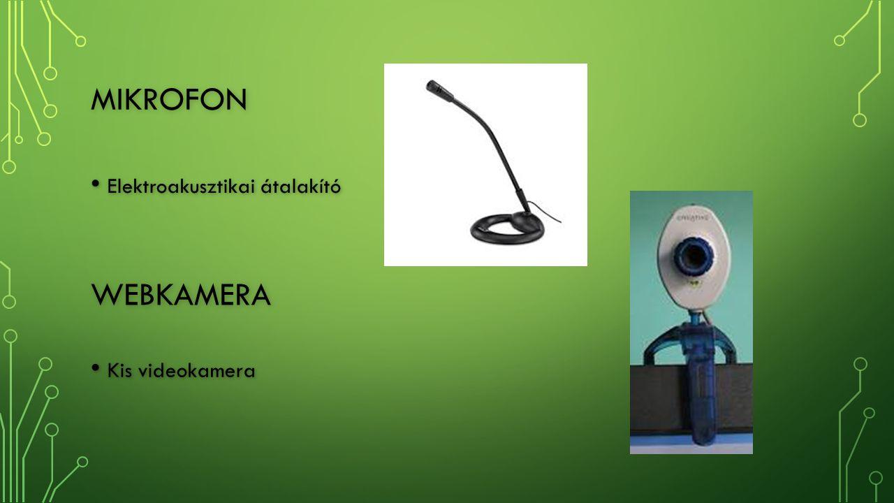 MIKROFON Elektroakusztikai átalakító Elektroakusztikai átalakító WEBKAMERA Kis videokamera Kis videokamera