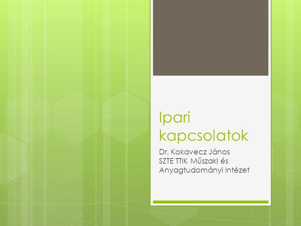 Ipari kapcsolatok Dr. Kokavecz János SZTE TTIK Műszaki és Anyagtudományi Intézet
