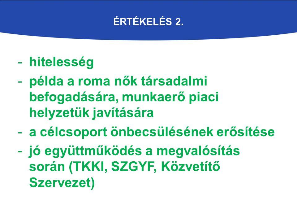 ÉRTÉKELÉS 2.