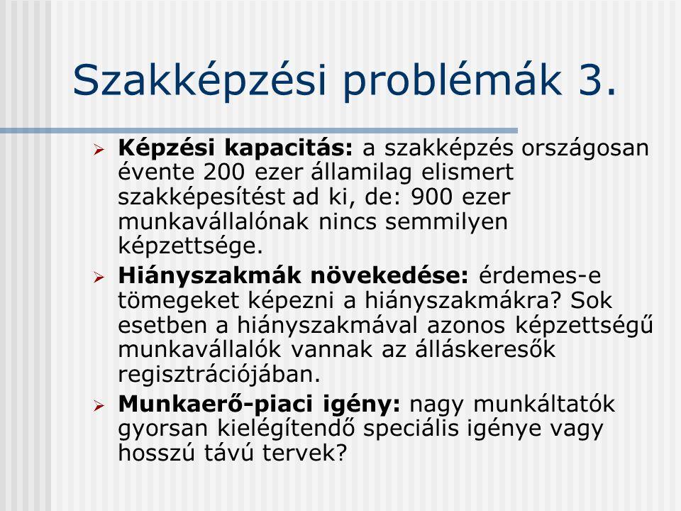 Szakképzési problémák 3.