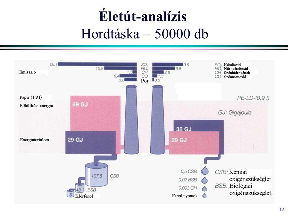12 Életút-analízis Hordtáska – 50000 db