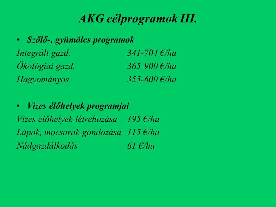 AKG célprogramok III.