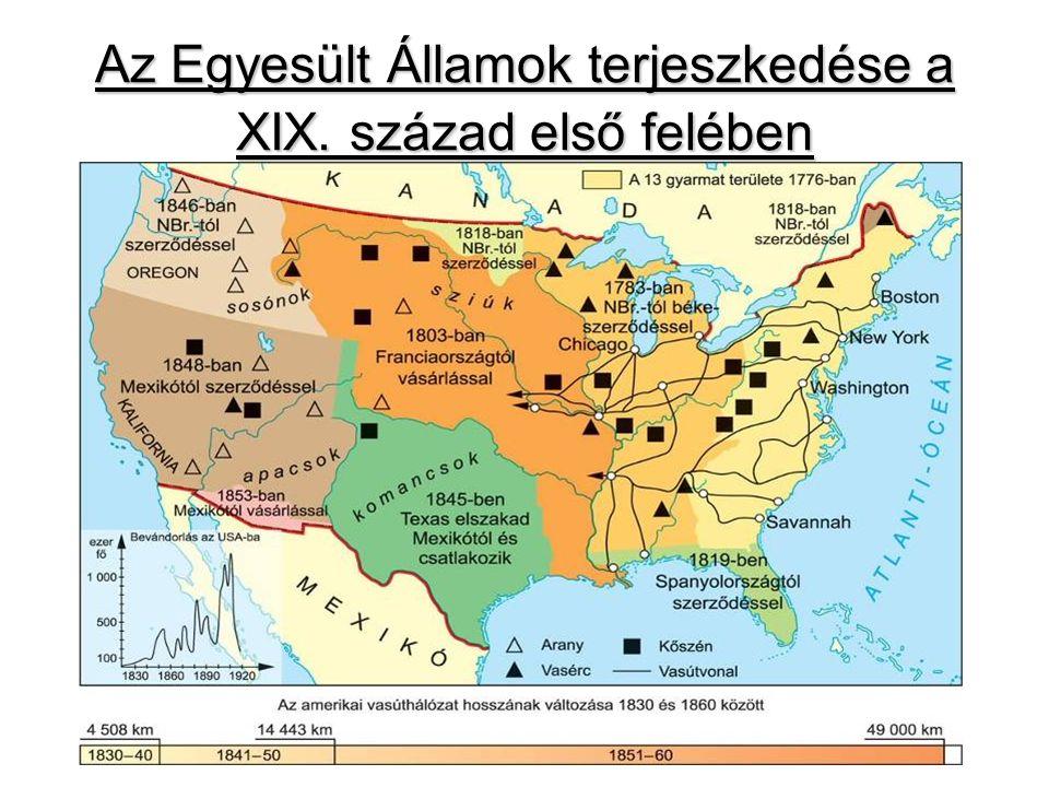 Észak és dél ellentéte Észak –puritánok alapítják (XVI.
