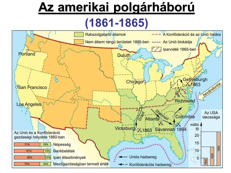 Az amerikai polgárháború Az amerikai polgárháború (1861-1865)