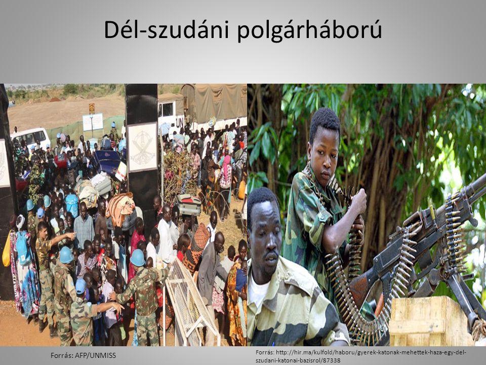 Dél-szudáni polgárháború Forrás: AFP/UNMISS Forrás: http://hir.ma/kulfold/haboru/gyerek-katonak-mehettek-haza-egy-del- szudani-katonai-bazisrol/87338