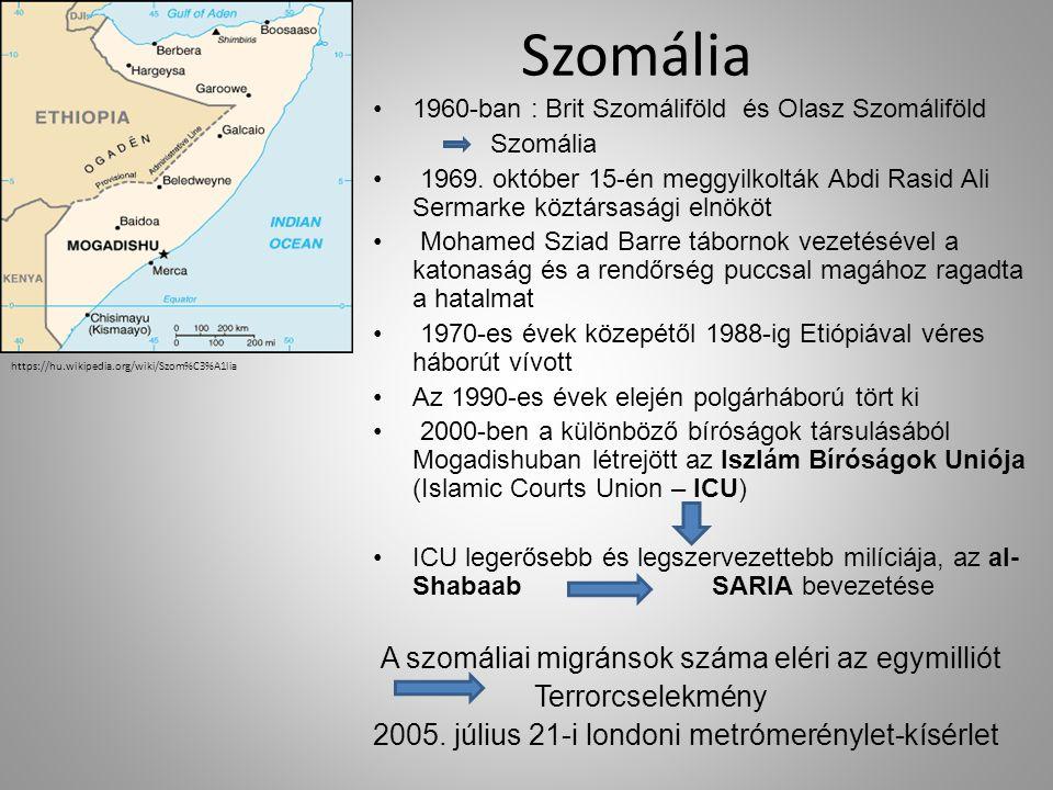 Szomália 1960-ban : Brit Szomáliföld és Olasz Szomáliföld Szomália 1969.