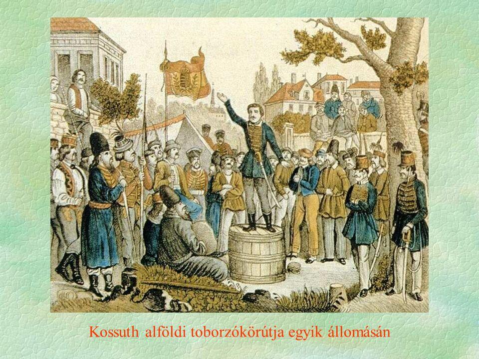 Kossuth alföldi toborzókörútja egyik állomásán