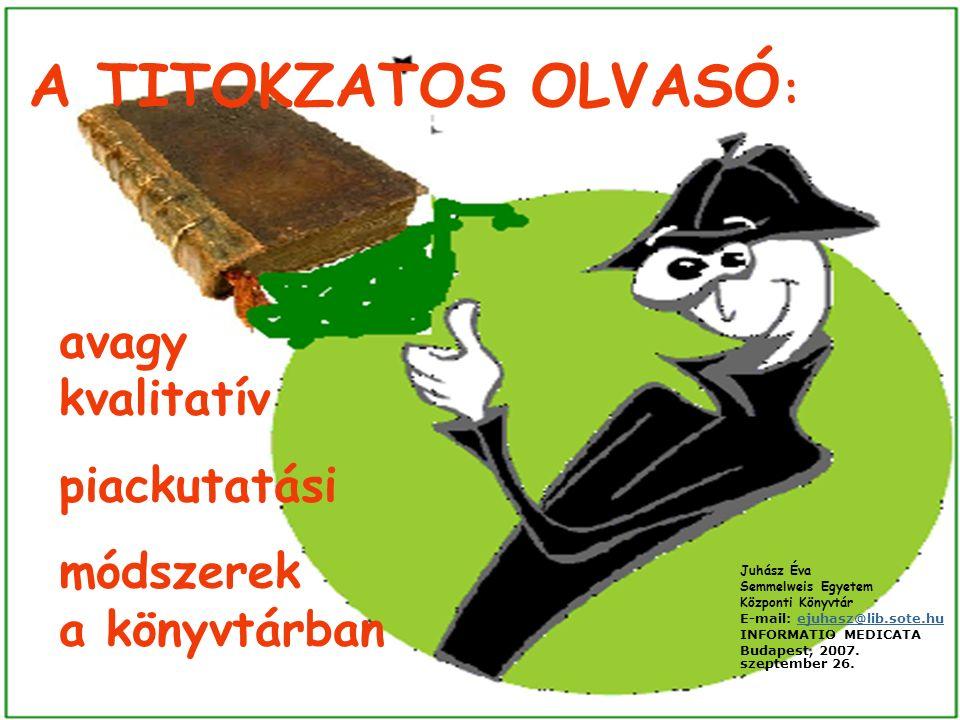 TITOKZATOS OLVASÓ A SEKK – BEN ÉRTÉKELÉS A könyvtár értékelése összességében kedvező.