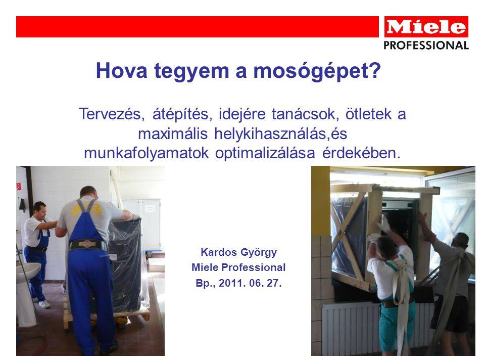 Hova tegyem a mosógépet. Kardos György Miele Professional Bp., 2011.