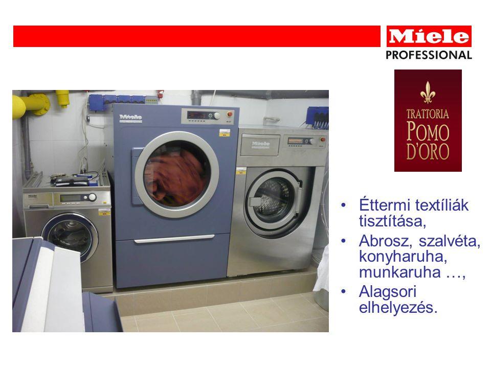 Éttermi textíliák tisztítása, Abrosz, szalvéta, konyharuha, munkaruha …, Alagsori elhelyezés.