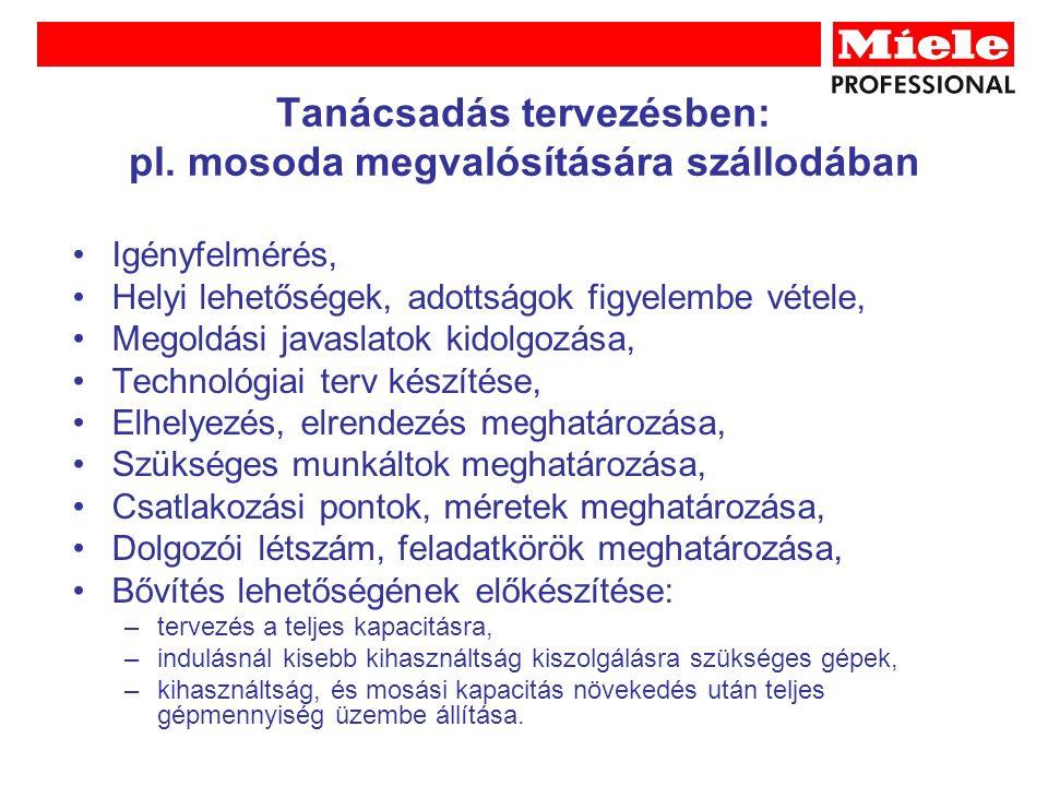 Tanácsadás tervezésben: pl.