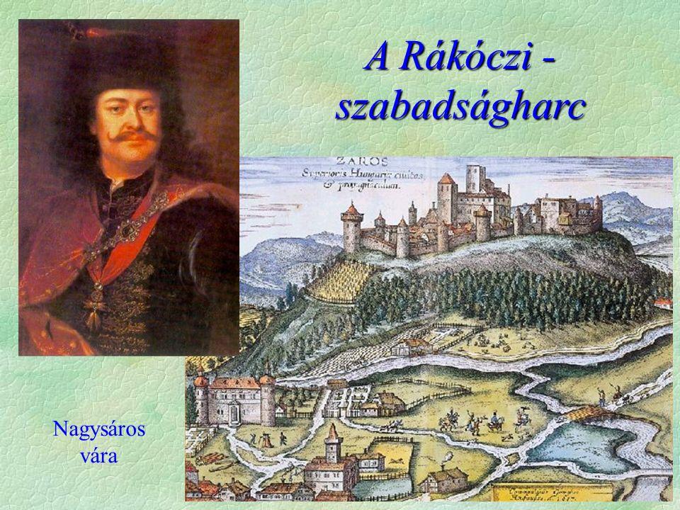 Előzmények  A szabadságharc kitörésének okai   A császári abszolutizmus, a rendi jogok megsértése  Bécs növeli adóit  katonai erőszak  szabad királyválasztás megszüntetése  ellenállási záradék megszüntetés  újszerzeményi bizottság  fegyverváltság  A szabadságharc előzményei:  1697 Hegyaljai felkelés (elszigetelt, nemesség nem támogatja)  1700 Rendi, nemesi szervezkedés (spanyol örökösödési háború)  1703 Tiszaháti felkelés - kapcsolat a nemességgel  Kapcsolat Rákóczival