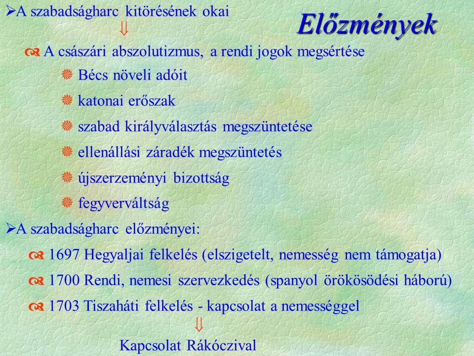 A Rákóczi - szabadságharc II.