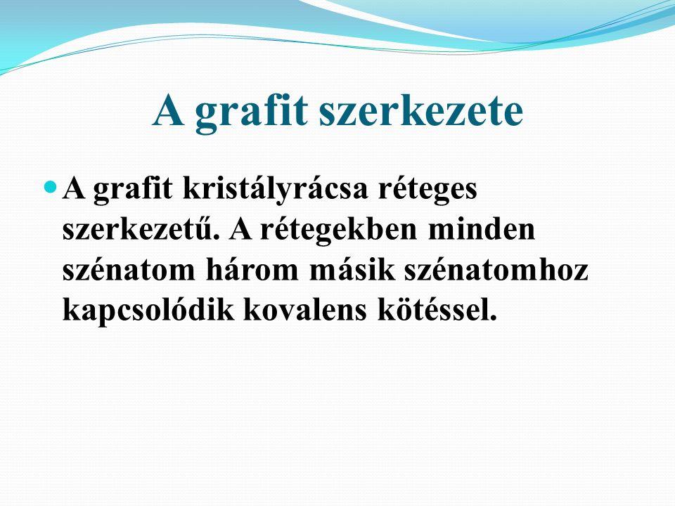 A grafit szerkezete A grafit kristályrácsa réteges szerkezetű.