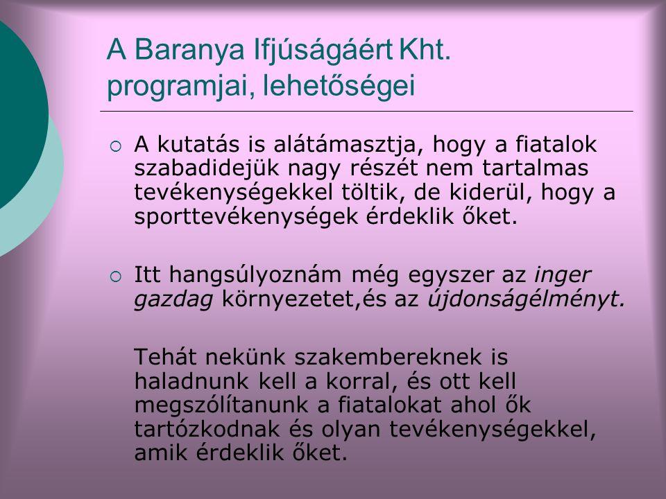 A Baranya Ifjúságáért Kht.