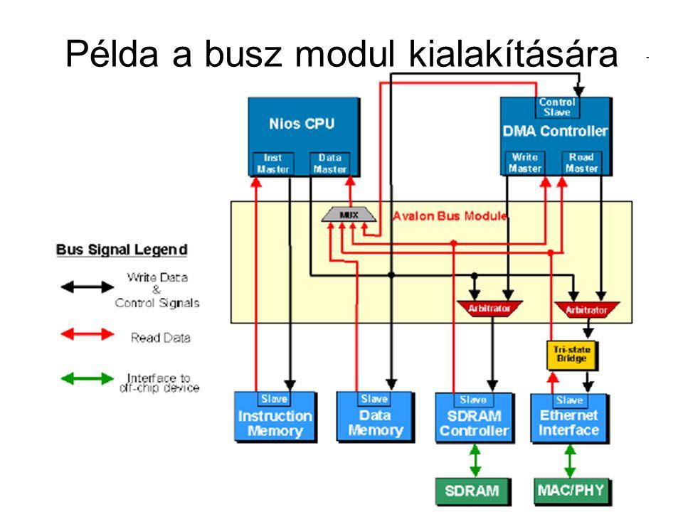 Példa a busz modul kialakítására
