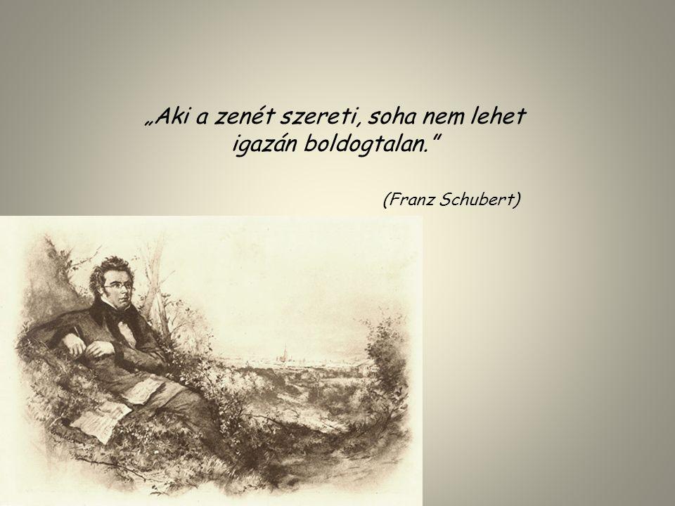 """""""Aki a zenét szereti, soha nem lehet igazán boldogtalan."""" (Franz Schubert)"""