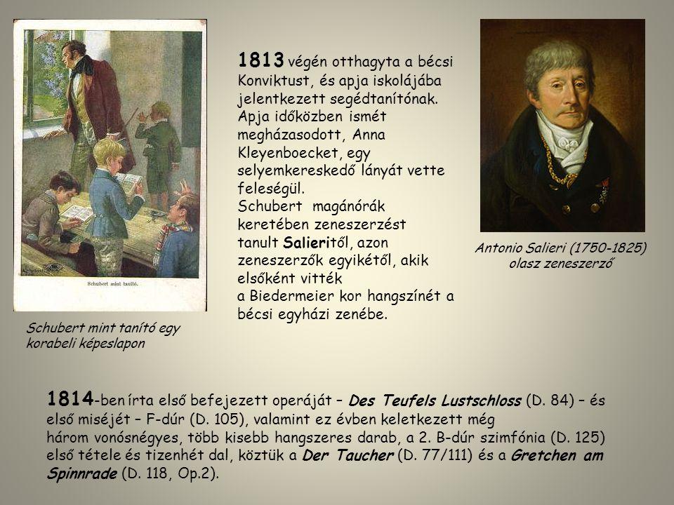 1813 végén otthagyta a bécsi Konviktust, és apja iskolájába jelentkezett segédtanítónak. Apja időközben ismét megházasodott, Anna Kleyenboecket, egy s