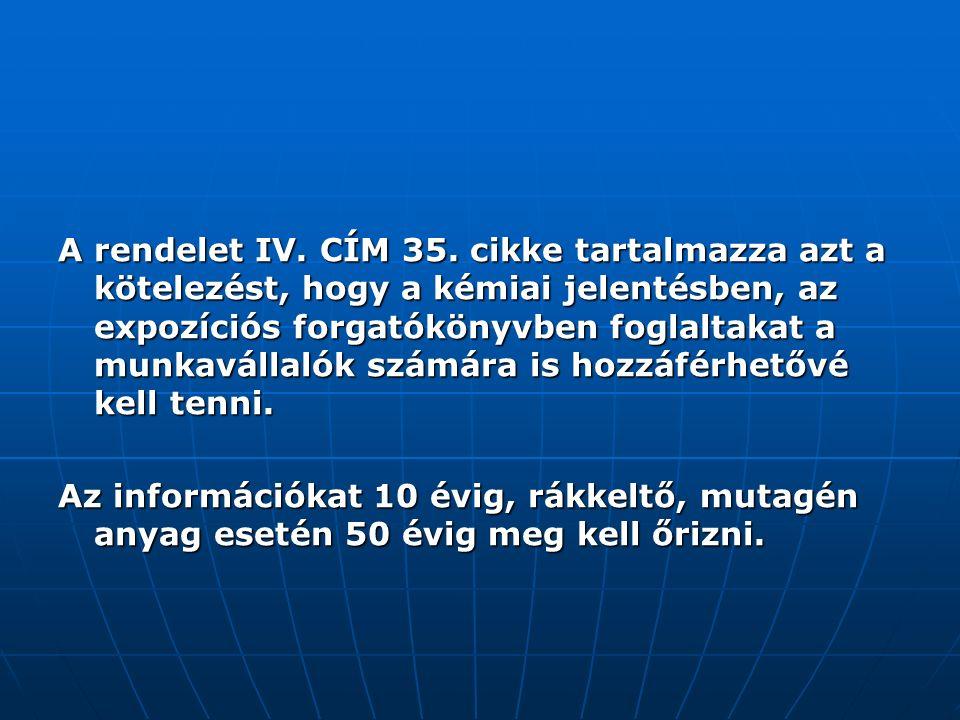 A rendelet IV. CÍM 35.