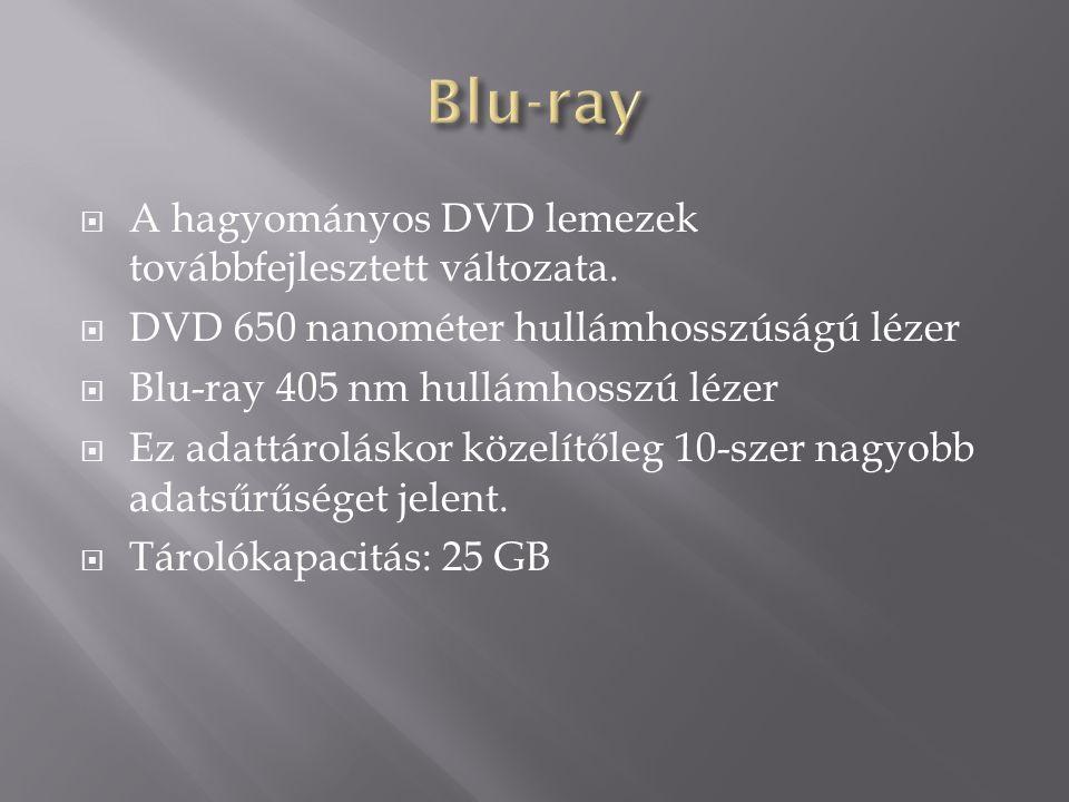  A hagyományos DVD lemezek továbbfejlesztett változata.