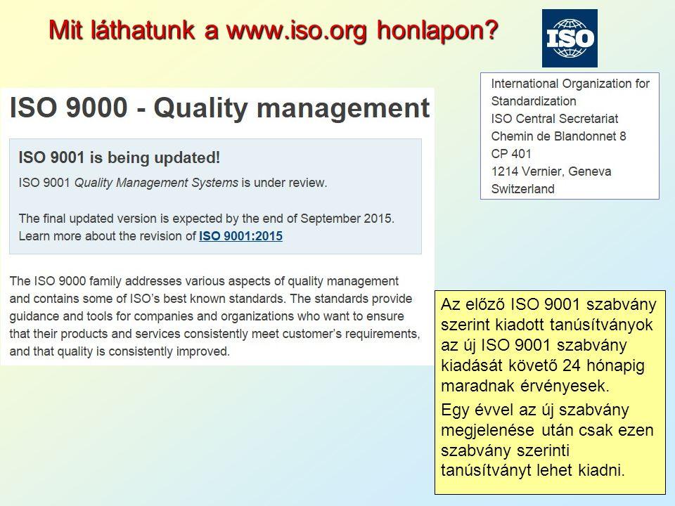 Mit láthatunk a www.iso.org honlapon.
