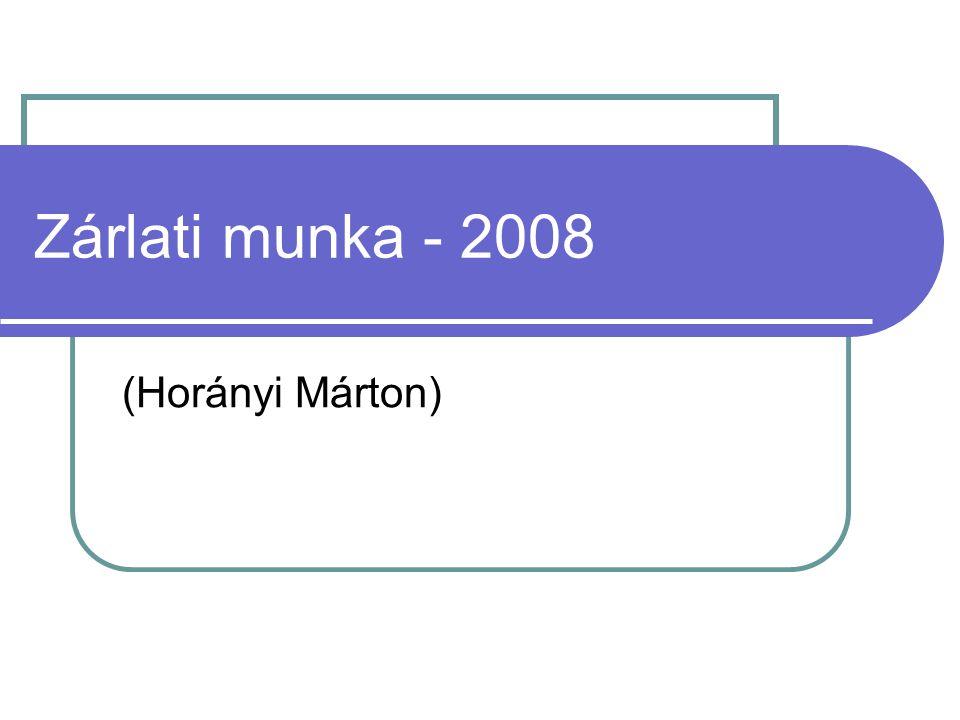 Zárlati munka - 2008 (Horányi Márton)