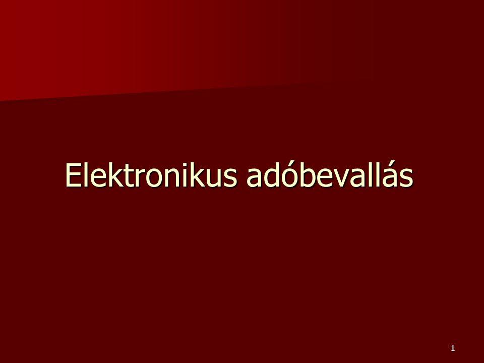 1 Elektronikus adóbevallás