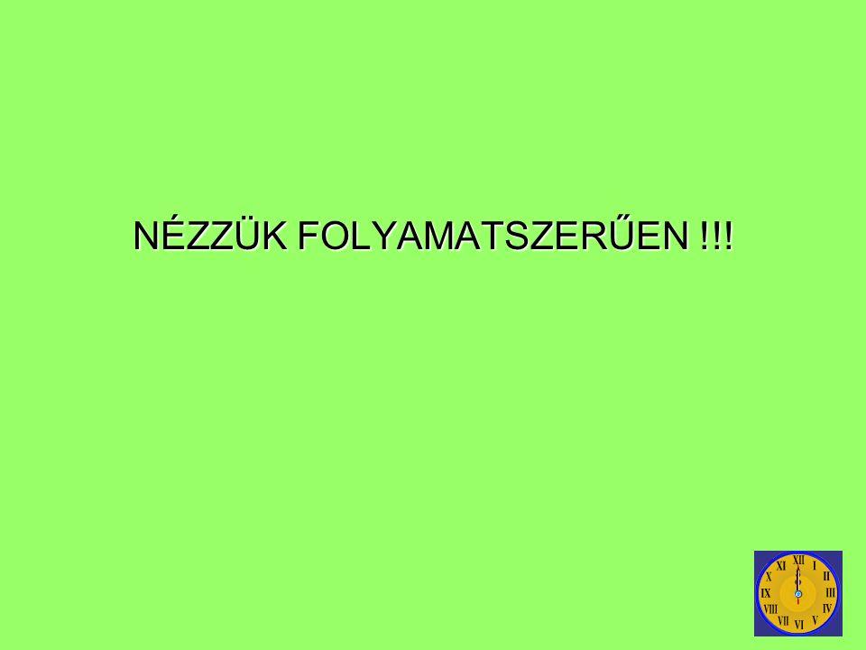 NÉZZÜK FOLYAMATSZERŰEN !!!